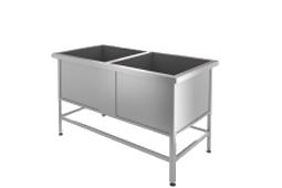 Нейтральное оборудование (производственные столы, стеллажи, ванны моечные, полки, подтоварники)