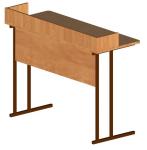 Стол ученический  2-местный для кабинета физики с бортом розетки.