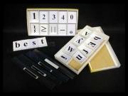 Набор цифр,букв,знаков с магнитным креплением (ламинированный)