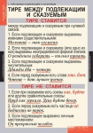 Комплект таблиц. Русский язык. 8 класс (7 таблиц)