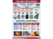 """Таблица демонстрационная """"Горные породы и полезные ископаемые"""" (винил 70x100)"""