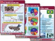 """Комплект таблиц по географии """"Население и хозяйство мира"""" (16 табл., формат А1, лам.)"""