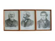 """""""Портреты выдающихся физиков""""(дерев. рамка, под стеклом) цена за 1 шт."""