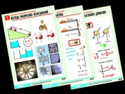"Комплект таблиц по физике ""Механика-1. Кинематика. Динамика"" (12 табл.,формат А1, ламинир.)"