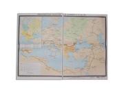 """Учебная карта """"Византийская империя и славяне в VI - ХI в.в."""" (матовое, 2-стороннее лам.)"""
