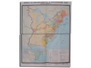 """Учебная карта """"Война за независимость и образование США (1775-1783)"""" (матовое, 2-стороннее лам.)"""