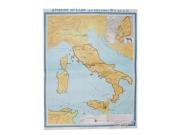 """Учебная карта """"Древняя Италия"""" (до середины III в до н.э.) (матовое, 2-стороннее лам.)"""