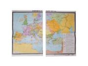 """Учебная карта """"Европа в 14 - 15 вв."""" (матовое, 2-стороннее лам.)"""