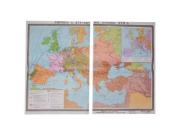 """Учебная карта """"Европа в 16 - первой половине 17 в.в."""" (матовое, 2-стороннее лам.)"""