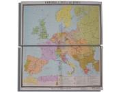 """Учебная карта """"Европа с 1815 - 1849 г.г."""" (матовое, 2-стороннее лам.)"""