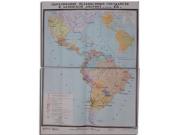 """Учебная карта """"Образование независимых государств в Латинской  Америке"""" (матовое, 2-стороннее лам.)"""