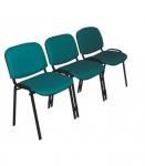 Секция Персона 3 (ИЗО 3) из 3-х стульев. Обивка кож.зам. цветной. Каркас черный.